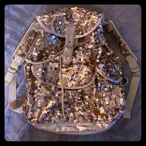 COPY - Aeropostale sequined book bag, gold medium…